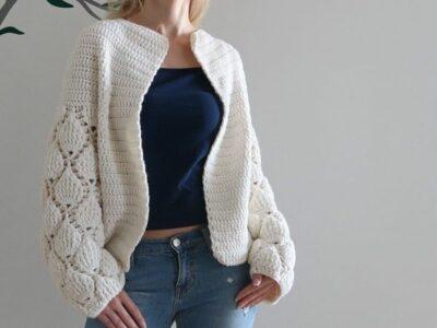 crochet Figs Cardigan easy pattern