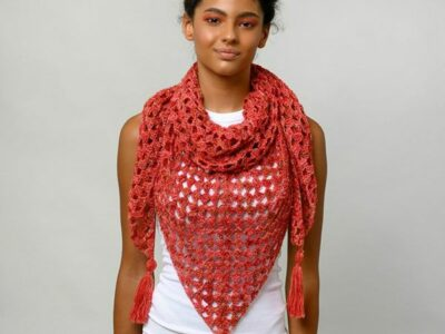 crochet Granny Triangle Shawl free pattern