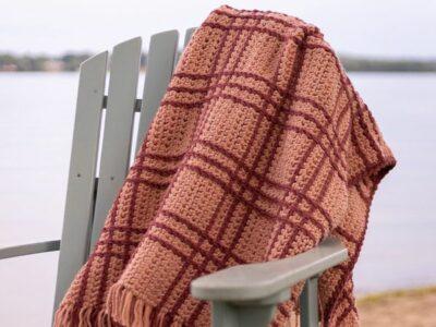 crochet Heritage Plaid Blanket free pattern