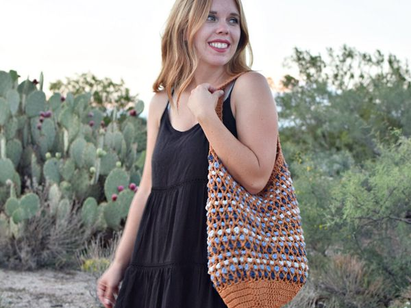 crochet Morocco Market Bag free pattern