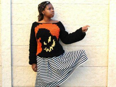crochet Oogie Boogie Sweater easy pattern