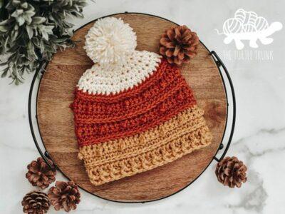 crochet PICOT BEANIE free patterns