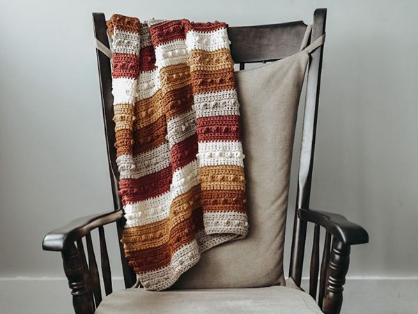 crochet PICOT BLANKET free pattern