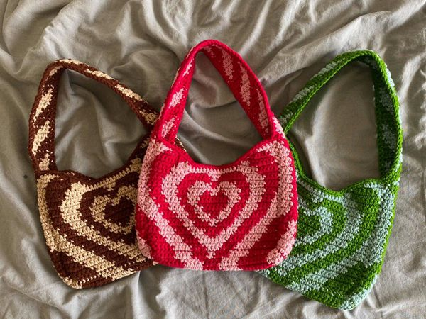 Powerpuff Heart Shoulder Bag