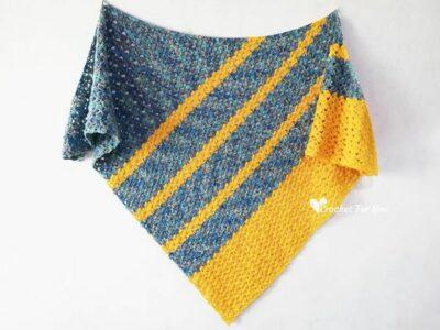crochet Sherlyn Shawl free pattern