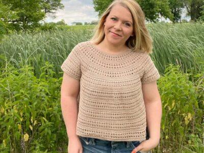 crochet Shiloh Tee free pattern
