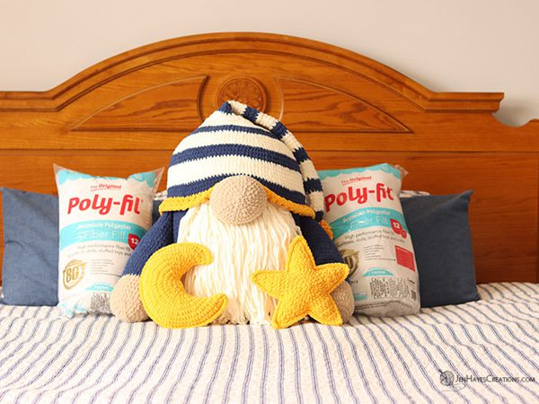 crochet Sleepy Time Gnome Pillows free pattern