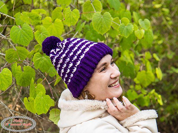 crochet Striped Silt Hat free pattern