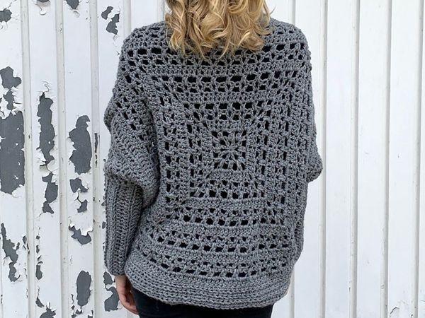 crochet Tulip Square Shrug free pattern