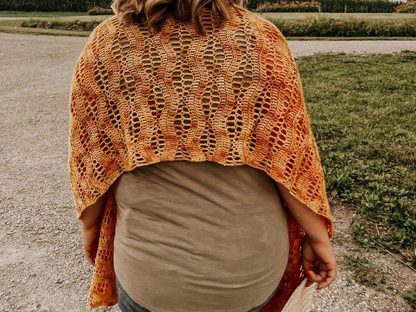 crochet Wichita Shawl free pattern