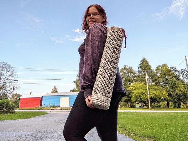 crochet Yoga Mat Bag free pattern