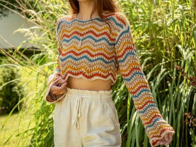 Wavy Crochet Sweater easy pattern