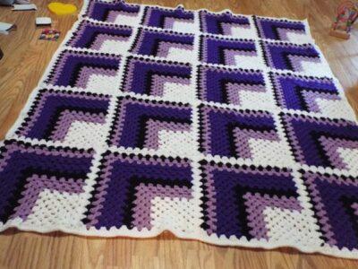 crochet 3D Afghan easy pattern