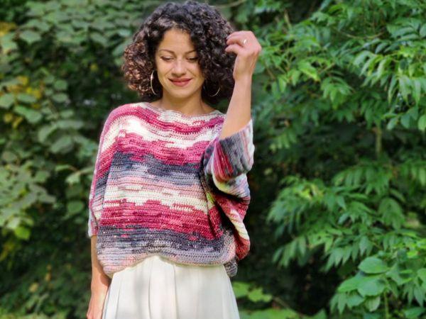 crochet Bat Wings Sweater free pattern