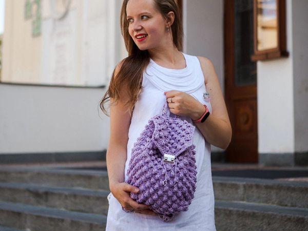 crochet Bobble Backpack easy pattern