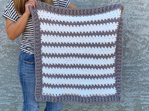 crochet Braydon Baby Blanket free pattern