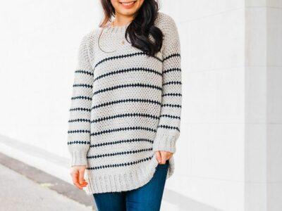 crochet Breton Stripe Sweater free patterns