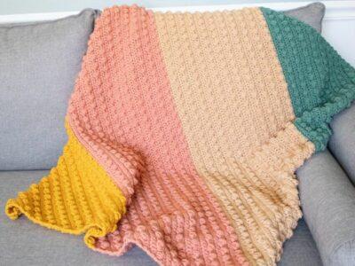crochet C2C BOBBLE BLANKET free pattern