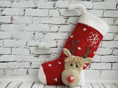 crochet Christmas Stocking easy pattern