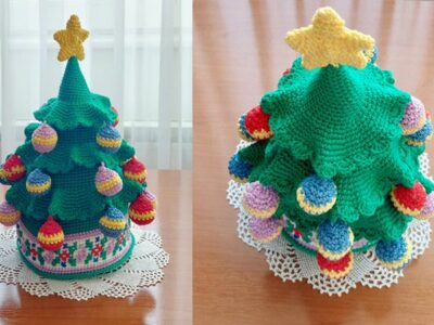 crochet Christmas Tree with Star easy pattern