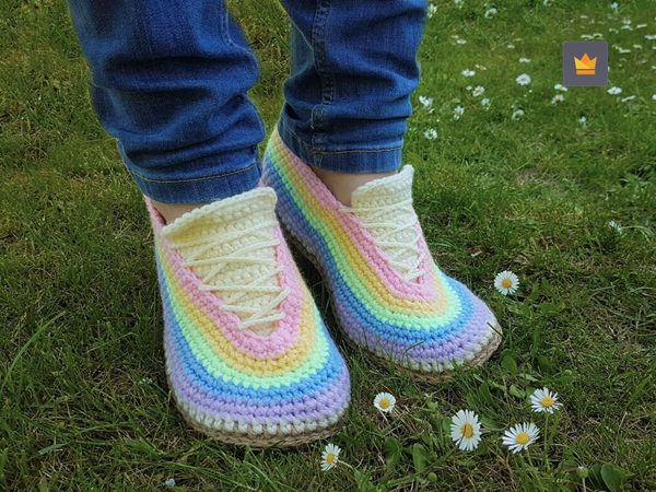 crochet Coloring Sneaker easy pattern