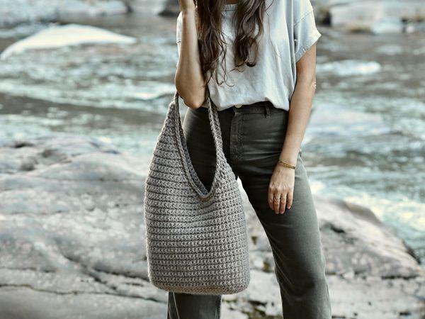 crochet Dune Bag free pattern