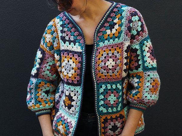 crochet Everyday Granny Square Cardigan free pattern