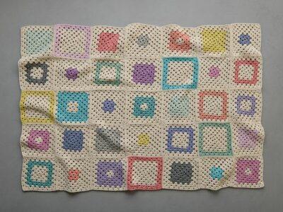 crochet Fair Square Blanket free pattern