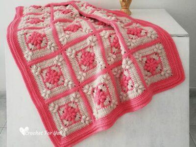 crochet Floral Garden Blanket free pattern