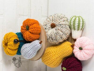 crochet Gourd Pumpkin free pattern