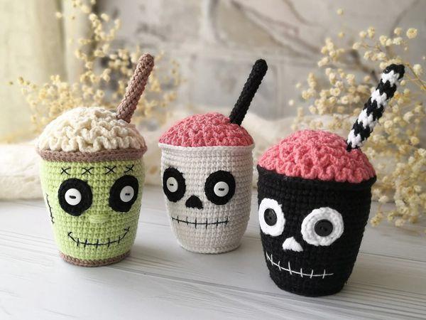 crochet Halloween Cocktail Set easy pattern