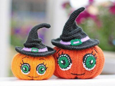 crochet Halloween Pumpkin Decor easy pattern