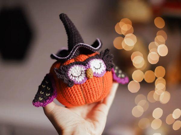 crochet Halloween Pumpkin Owl easy pattern