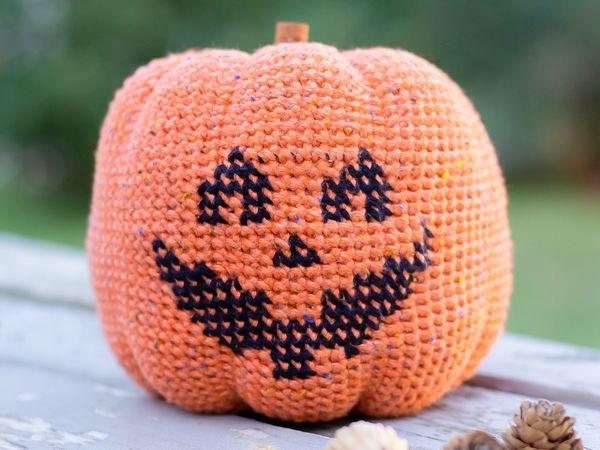crochet Halloween Pumpkin easy pattern