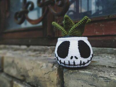 crochet Halloween Succulent easy pattern