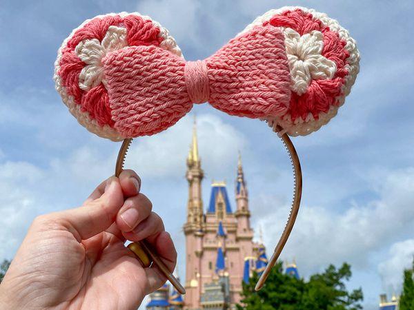 crochet Mouse Ears Headband free pattern