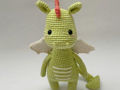 crochet Odile the dragon free pattern