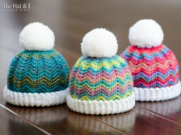 crochet Peak 2 Peak Beanie easy pattern