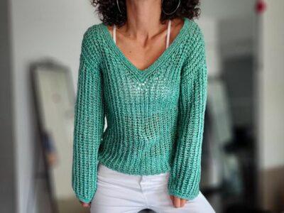 crochet Porto Sweater free pattern