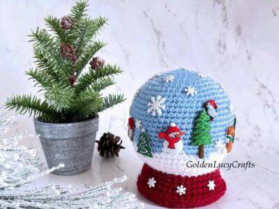 crochet Snow Globe Amigurumi free pattern