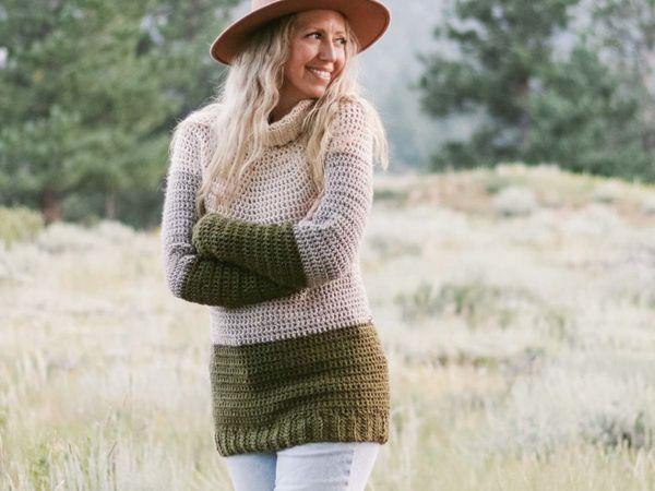 crochet Snowbound Pullover free pattern