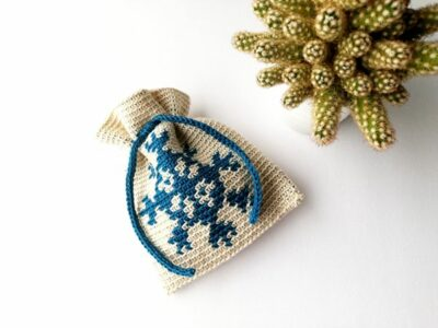 crochet Snowflake Bag free pattern