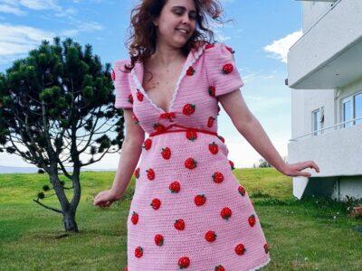 crochet Strawberry Dress easy pattern