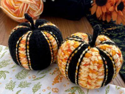 crochet Striped Pumpkins free pattern