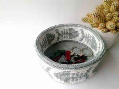 crochet Tapestry Basket free pattern