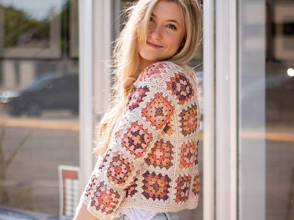 crochet The Granny Square Cardigan free pattern