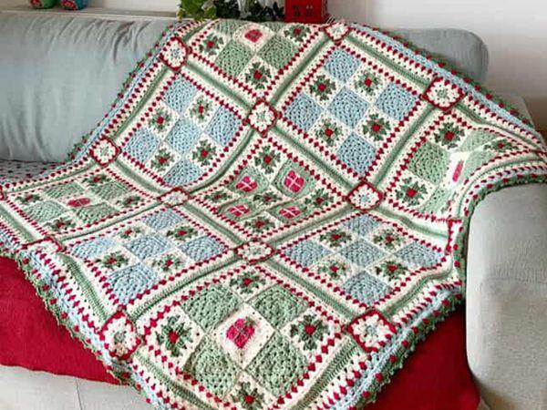 crochet The Noel Nine Patch Blanket easy pattern