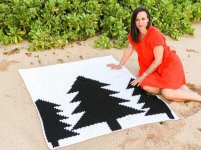 crochet Treescape Throw free pattern