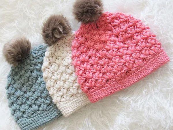 crochet Winter Blossom Hat free pattern