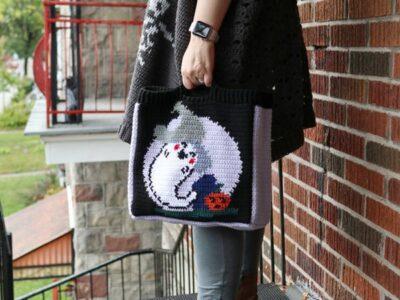 crochet BOO-TASTIC TREAT BAG free pattern